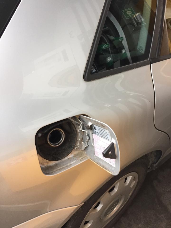 Korr e bensinlokket?