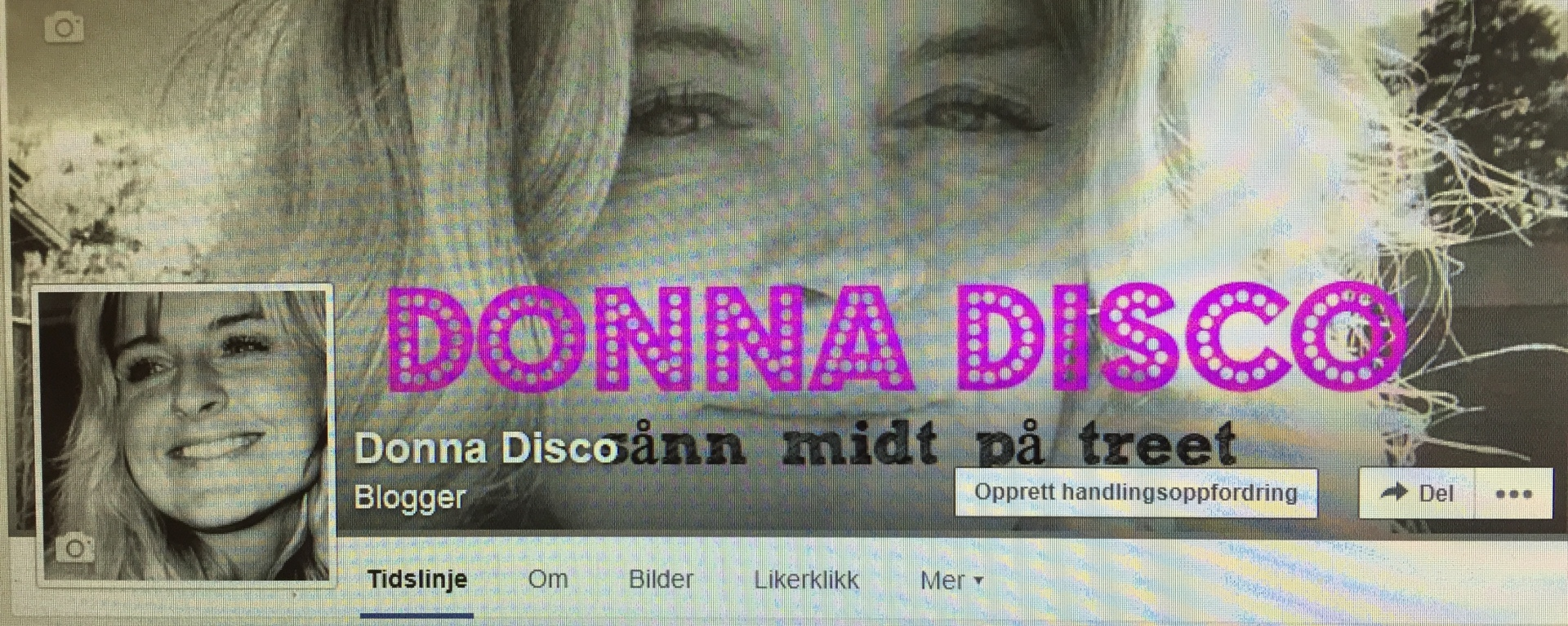 Man kan til og med ha egen Facebook-side til bloggen :-)