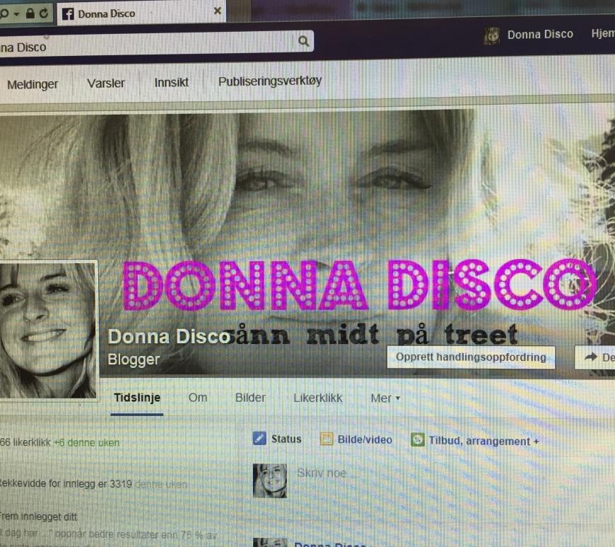 Man kan til og med ha egen Facebook-side til bloggen :-)