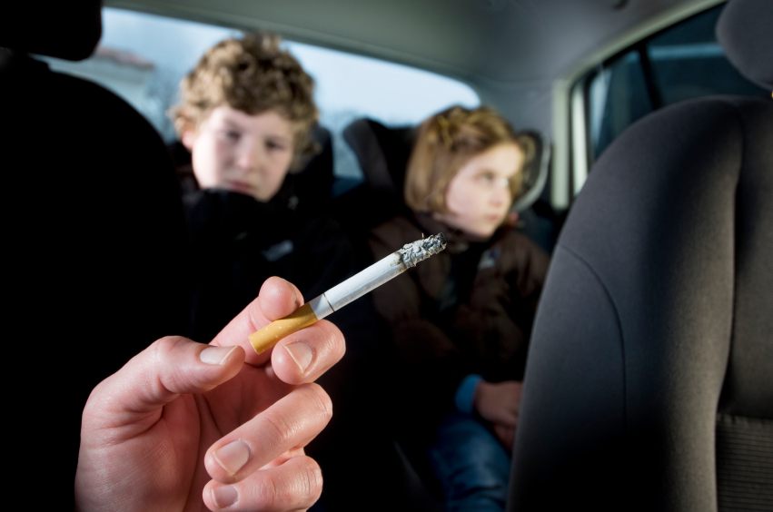 Passiv røyking i bil