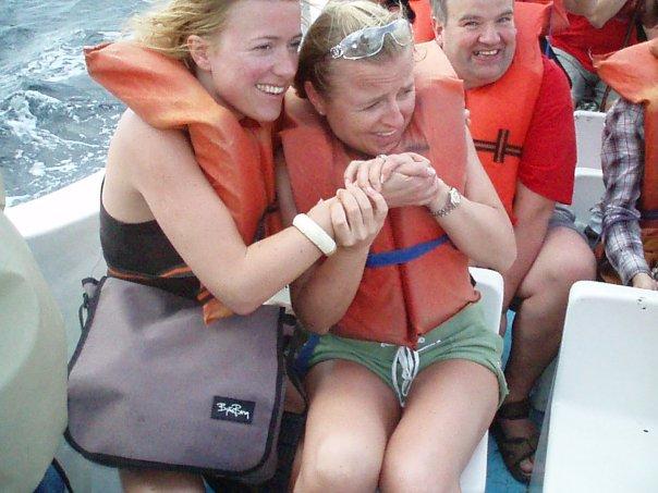 Selv jeg synes det var litt rart at noen valgt å ta bilder av oss i stedet for hvalen :-)